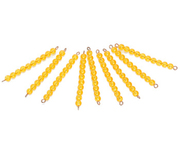 Montessori Educational toys-9 Golden Bead Bars of Ten