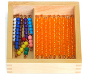 Montessori Educational toys-Bead Bars for Teen Board with Box