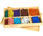 Montessori Educational toys-Bead Decanomial with Box