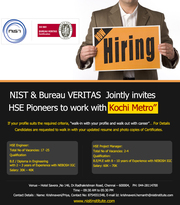 NIST Explored Your dream job in Kochi Metro!!