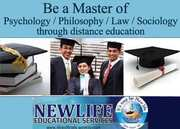 Master of Psychology/Phisolophy/Law/Sociology through distance educati