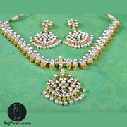 Export Quality Necklaces studded with Genuine Pearls from TajPearl.com