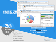 Prelaunch 25% off on Bookings till Dec 15 for Cumulus CRM