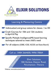 tuitions, all types of counselling, personality development @ Elixir