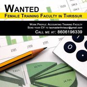 Female Training Faculty Required for a Reputed Accounting Firm