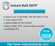 Instant Bulk SMTP service which help to start sending ...