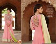 Georgette With Embroidered Hand Embllished Yoke Work salwar kameez