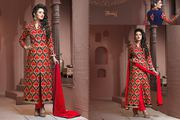 bridal  Light Embroidered Digital Georgette Printed Salwar Suit