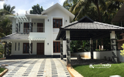 Beautifully designed two story 5 bhk house in Valliyoorkavu