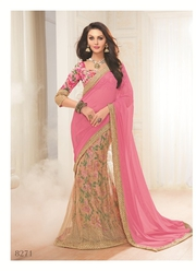 Partywear Georgette Sarees Collection at ShoppyZip