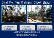 Small Plot for sale Near Krishnagiri Cricket Stadium Wayanad