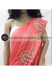 Peach Baptism Saree