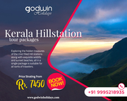 Explore Kerala Hill station tour packages - Godwin Holidays