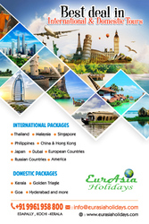 Best International and Domestic  tour Operator in Kerala