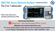 ZNLE Vector Network Analyzer - Sinetec Automation Pvt Ltd