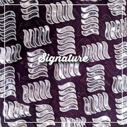 Buy Solid Dark Purple Chiffon Fabric With Aplic Work at MK SIGNATURE
