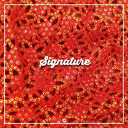 Buy Fire Orange Net Fabric With Thread and Sequence at MK SIGNATURE