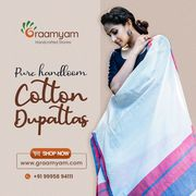 Cotton Handloom Dupattas Online
